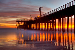IMG_8187 Sunset from Pismo Pier, Pismo Beach, CA (Ashala Tylor Images) Tags: california sunset pier pismo pismobeach sanluisobispo pismopier