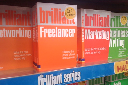 Brilliant Freelancer in a book shop