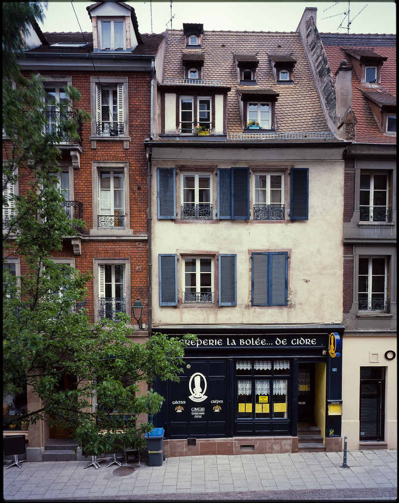 Strasbourg view from the hotel room taken with my Toyo Field 45 CF what CARBON FIBRE means Rodenstock Grandagon 6,8 90 Copal 0 on Fujifilm Provia 100f scan with Epson V700