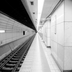 Platform (Pineapple.p) Tags: bw square landscape platform rail gxr hachobori