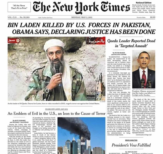 New York Times 5-2-11