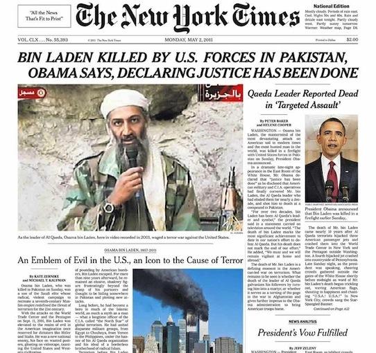 New York Times 5-2-11