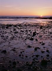 Sunset at Schooner Gulch, Mendocino County, California - GA645zi - Provia 400x (divewizard) Tags: california sunset seascape color film beach water analog mediumformat analgica 645 stream surf fuji rangefinder transparency 6x45 fujichrome provia e6 pelcula provia400 mendocinocounty ga645zi 400x rxp provia400x schoonergulch chrisgrossman 6x4