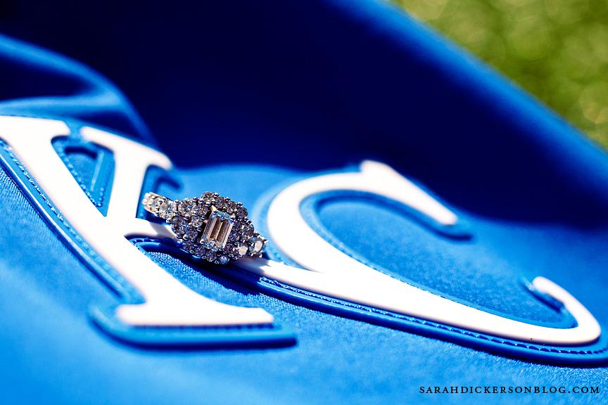 Kauffman Stadium engagement photography