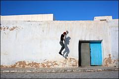 Wall. Kairouan, Tunisia (Maciej Dakowicz) Tags: africa street city man building wall architecture tunisia unesco maghreb medina historical kairouan