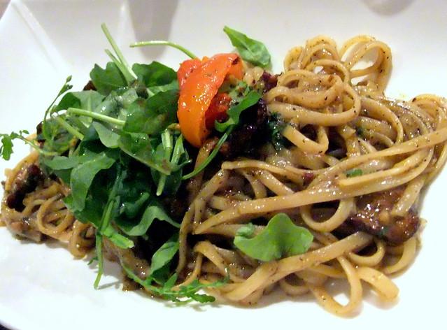 Duck Basil Pesto Spaghetti