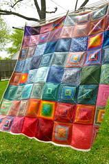 Barn Raising Blanket (casaknittygirl) Tags: colorful squares blanket knitted patchwork barnraisingblanket