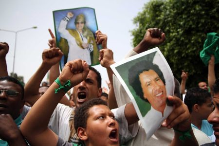 Demonstration in Tripoli supporting the political leadership of Muammar Gaddafi the head of the North African state. The US/NATO forces are using targeted assassination and terror in a failed attempt to subdue the country. by Pan-African News Wire File Photos