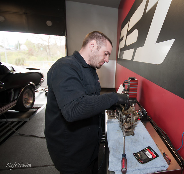 Russ working on a carb off of a Shelby GT500.JPG