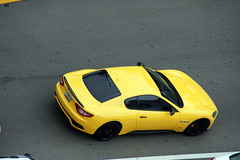 black yellow florida miami exotic gran turismo supercar maserati granturismo sunnyisles blackyellow