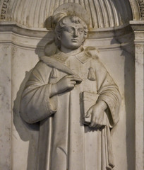 St Stephen the deacon (Lawrence OP) Tags: rome saint statue stone book palm martyr deacon ststephen dalmatic stagnesefuorilemura