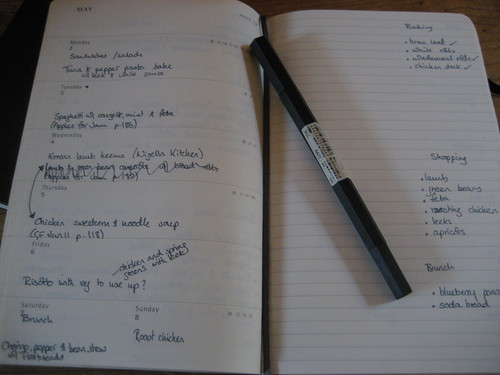 Meal plan notebook