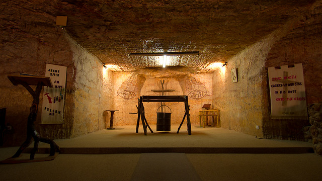 Catacomb Church, an underground church in Coober Pedy