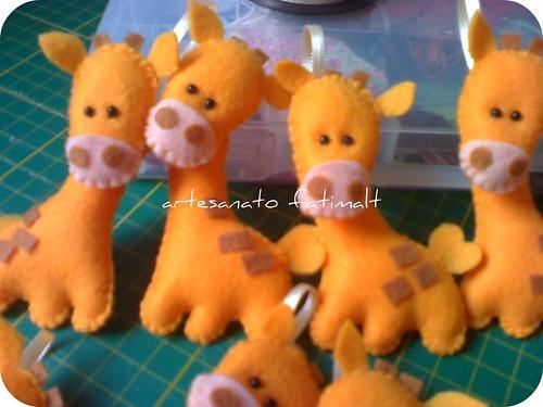 girafa -bichinhos em feltro by fatimalt