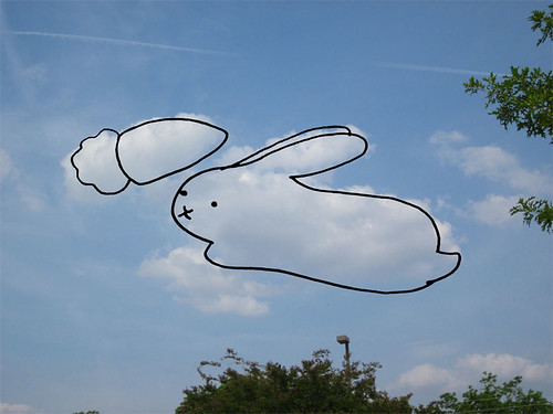 Cloud Drawing - Bunny with Carrot
