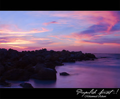 Purpulish Sunset ..! (Mohammad Rehawi | Evil Hard) Tags: sunset sun water set canon tampa bay gulf tampabay florida clear mexican mohammad clearwater canon1855 explored 550d mexicangulf canon550d mohammadrehawi rehawi