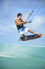 Kite Surfer / Muri Beach / Rarotonga / Cook Islands (Matthew McCutcheon) Tags: sea sky kite sport matt aperture nikon wind matthew surfer cookislands rarotonga windsurfer quintin kitesurfer mccutcheon muribeach d7000