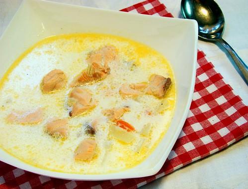 суп сливочный с лососем 2