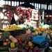 Bancarella di frutta e verdura nel Mercado Central in Santiago