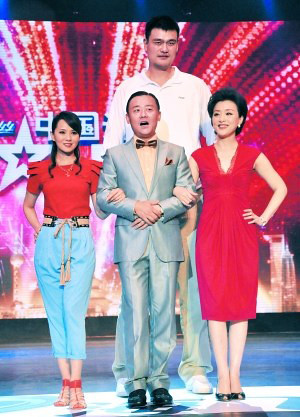 June 20, 2011 - Yao Ming makes a special appearance on China's Got Talent show