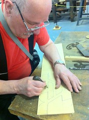 """""""This is my eraser."""" (Nick Sherman) Tags: museum pattern hamilton wi template woodtype tworivers brylski norbbrylski"""