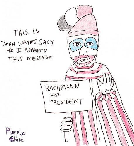 Gacy Endorses Bachmann