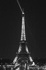 Eiffel Tower (MarviMPZ) Tags: eiffeltower parigi paris citt city luci lights villelumiere bnw biancoenero torreeiffel marvipezzoni