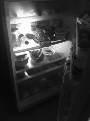 de-cluttered fridge