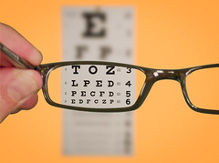 Vision Of Eyechart With Glasses [Photo by kenteegardin] (CC BY-SA 3.0)