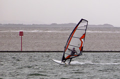 Wind Surfer (neilh2012) Tags: uk sea river waves lancashire estuary mersey wirral rivermersey thewirral