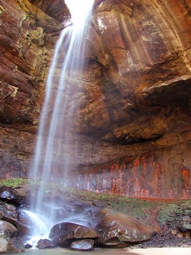 waterfall rocks kentucky bigsouthfork