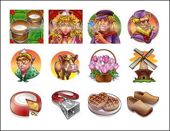 free Hurdy Gurdy slot game symbols