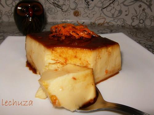 Flan queso y naranja-cucharada