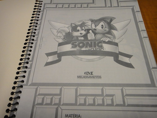 Art inside the Sonic notebook