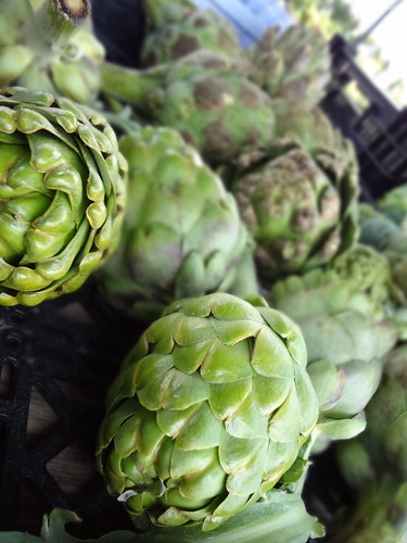 Gorgeous artichokes. Taken using the Sony WX9 on background defocus mode.