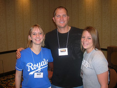 Me, Mike Sweeney, and my bff Becky in January 2008