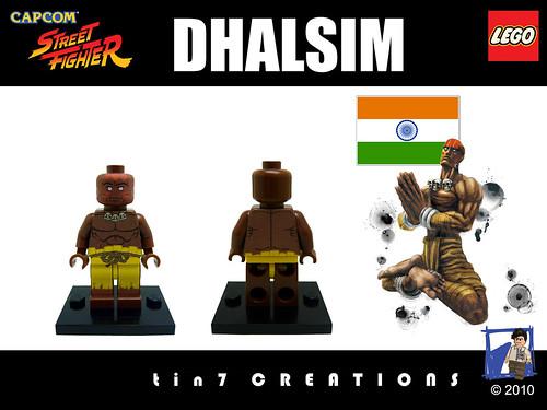 Custom minifig #02 - Dhalsim custom minifig