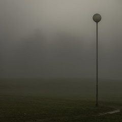 Available light (Lumase) Tags: park trees mist topf25 lamp rain fog square haze availablelight lawn sphere rush faint