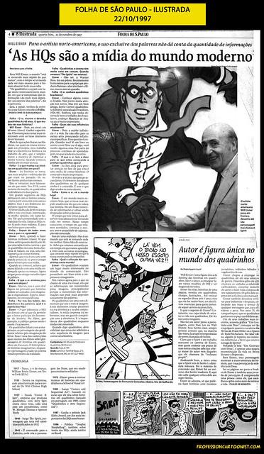 """""""As HQs são a mídia do mundo moderno"""" - Folha de São Paulo - 22/10/1997"""
