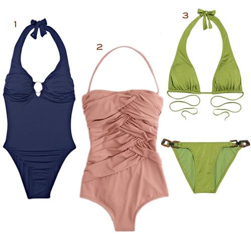 melissa wheat bikini. Melissa Odabash Navy Madeira Halterneck Swimsuit, ...