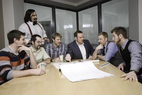 Moustache Business Meeting