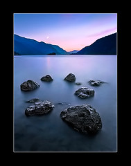 Blue Hour Canvas (navdog) Tags: sunset oregon river twilight columbia bluehour columbiarivergorge crescentmoon dreamscapes