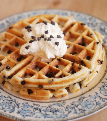 Chocolate Chip Waffles - Fake Ginger
