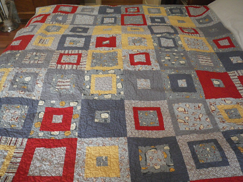 Puppies, Boys and Monkeys quilt
