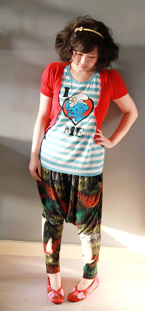 Bossini Smurf Tee - I LOVE ME