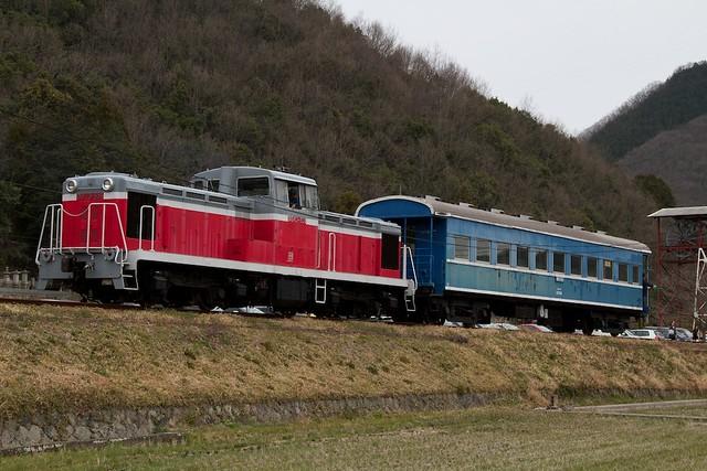 片上鉄道DD13+ホハフ2004