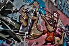 Mur de Graffs rue des Pyrnes (Arggos - http://bow-urbex.com) Tags: streetart paris france photoshop canon french raw tag perspective wideangle des capitale uga graff rue fr francia iledefrance canoneos efs dri franais hdr highdynamicrange parisian hdri francais francophone lightroom graffitis superwideangle parisien photomatix grandangle sigma1020 pyrne tonemapping apsc 450d canonefs sigmaex digiciii dformations reflexnumrique 1020456 digitalrebelxsi bombepeinture oloneo cmos122mgapixels