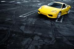CS (Ian Jones Photography) Tags: yellow race italian raw parking lot fast 360 ferrari exotic exclusive supercar challenge stradale