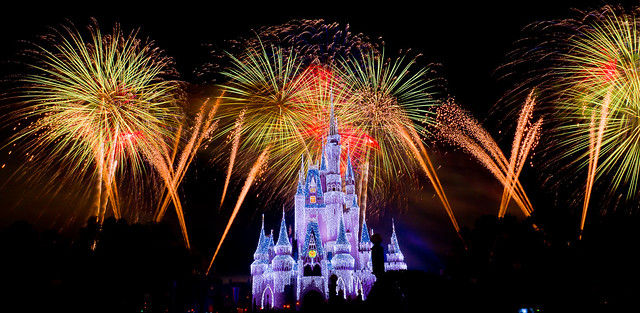 Magic Kingdom - Fireworks and Ice (Castle)