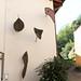[senza titolo]; 1988. Lastre di pietra e tondini di acciaio, cm 300x150.<br /> Maglione, Via Cavour.<br />